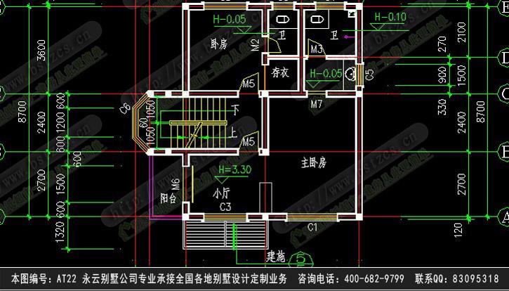 1822别墅设计施工图纸