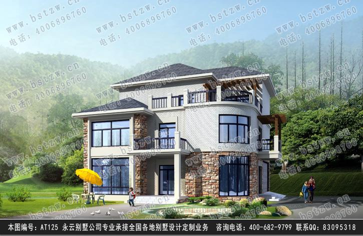 [永云别墅]at125三层带屋顶花园双车库别墅全套图纸13