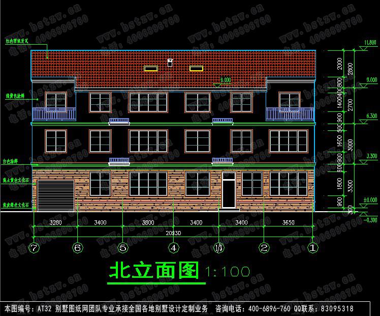 347欧式豪华三层别墅施工图纸别墅设计图纸