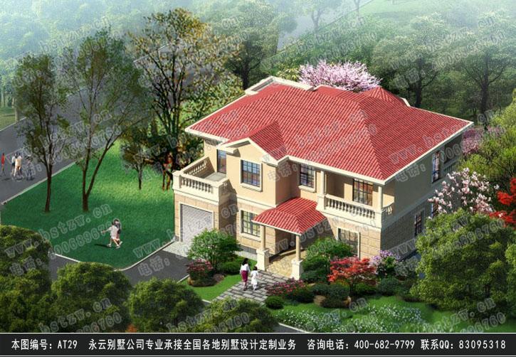 929欧式豪华二层别墅施工图纸别墅设计图纸