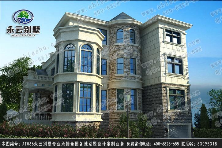 永云at066三层带地下室车库复式豪华别墅全套施工图纸14.5m×12m图片
