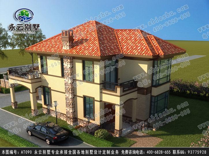 at090二层高端大气欧式别墅建筑设计图纸11.2x16