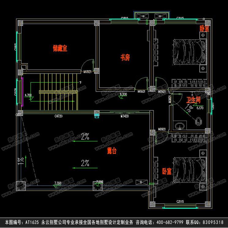 永云别墅at1625三层欧式带架空层别墅设计建筑施工图纸12.6mx12.2m
