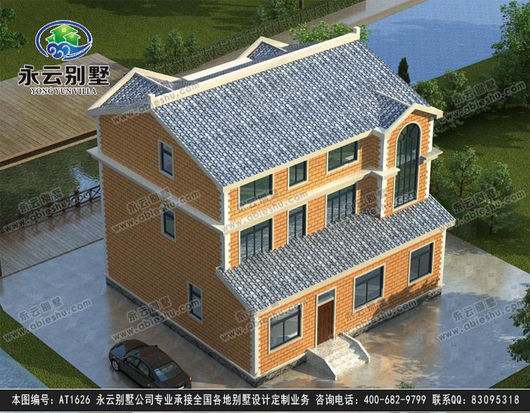 欧式三层别墅设计图