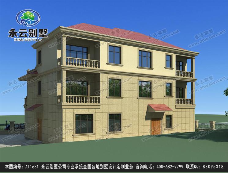 【送裝修圖】at1631 新農村豪華復式樓三層別墅全套圖紙17.7mx13.2m