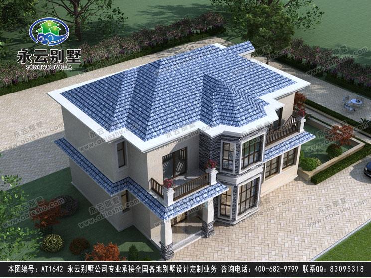 【永云别墅at1642二层简欧带内阳台别墅建筑设计施工