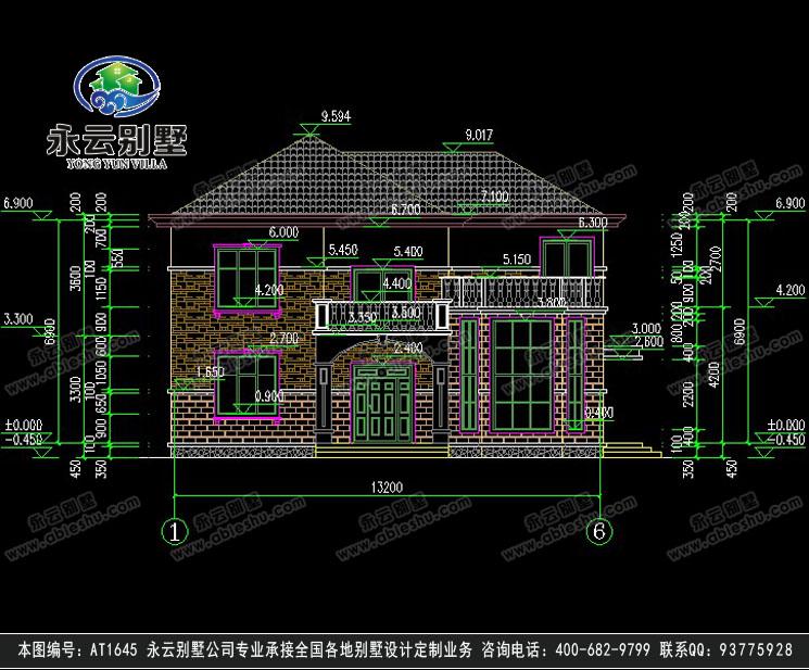 【永云别墅at1645二层简欧复式带露台别墅设计图纸13