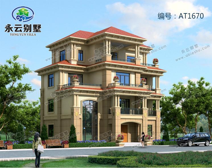 【永云别墅at1670四层高端豪华欧式别墅建筑施工图纸