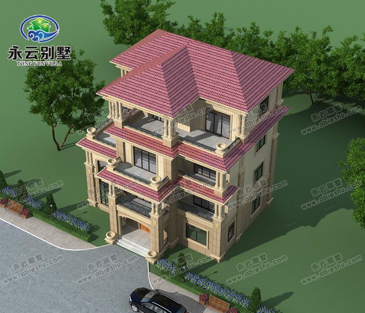 永云别墅at1670四层高端豪华欧式别墅建筑施工图纸14.