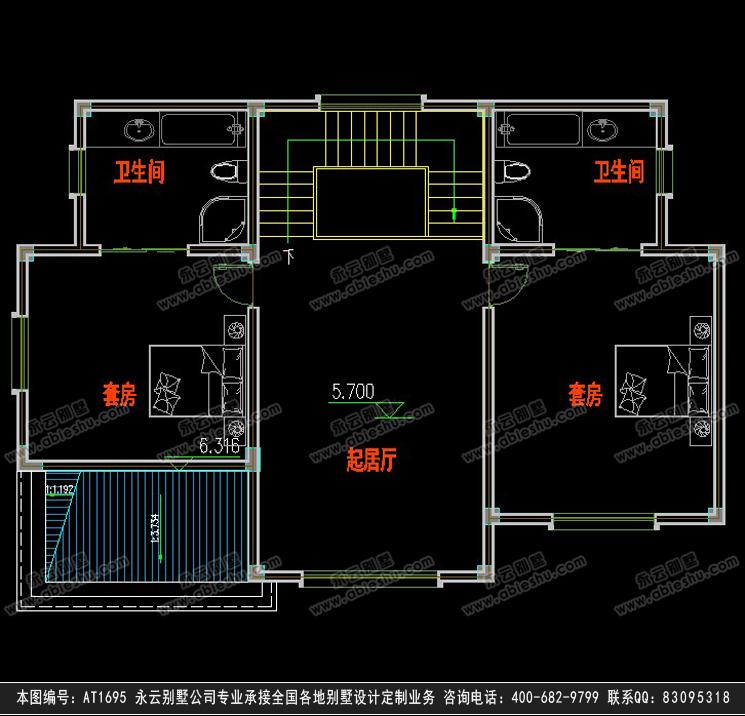 阁楼层平面图