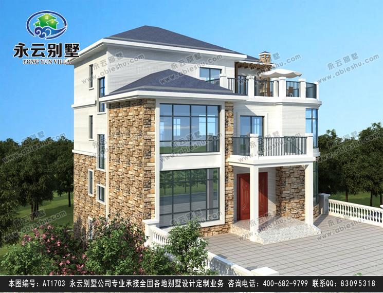 永云别墅at1703三层复式附地下车库别墅全套设计图纸11.8mx11.5m