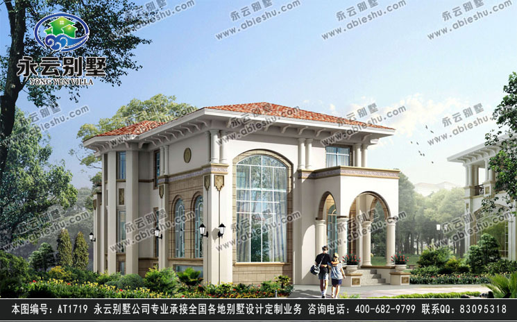 永云别墅at1719二层带地下室欧式风格私人豪华别墅全套设计图纸 12mx1