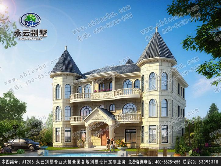 湖南株洲永云别墅at206三层欧式双拼别墅全套设计