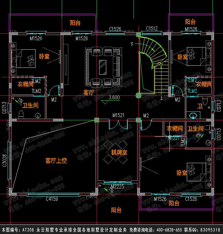 复式loft工装装修平面图