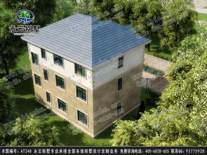 永云别墅at248三层豪华带车库别墅全套建筑设计施工图纸15.6mx9.5m