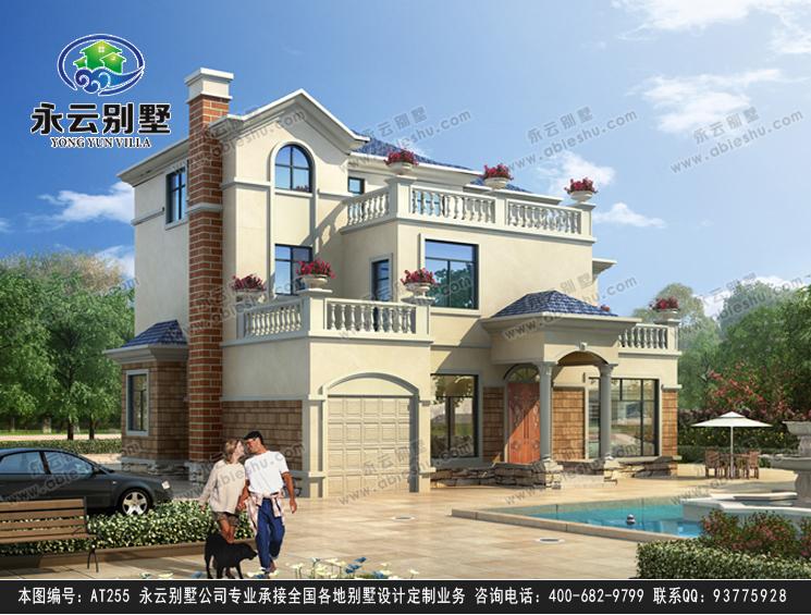 永云别墅at255三层带车库新农村别墅建筑设计图纸14