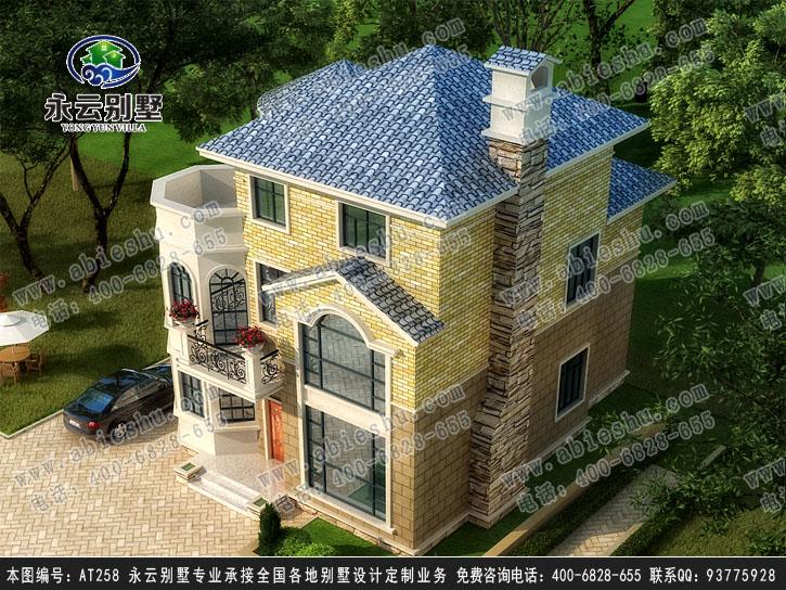 【永云别墅at258三层高端豪华欧式别墅建筑设计图纸