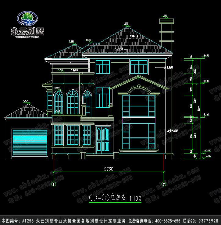 欧式别墅建筑设计图纸1