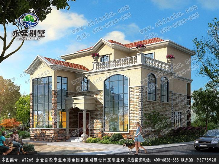 永云别墅at265三层复式豪华别墅建筑设计全套图纸14.8mx13.9m