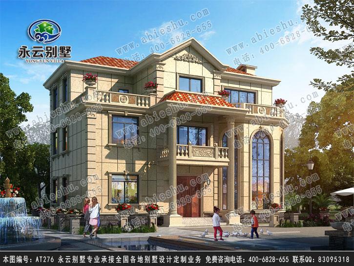 永云别墅at276三层豪华复式现代别墅建筑设计图纸14.7mx12m