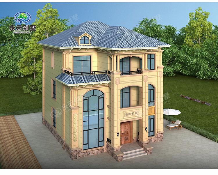 AT2806三层楼简欧小别墅多角度外观效果图