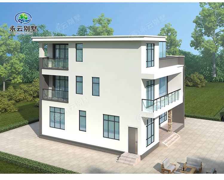 AT2809三层楼简欧小别墅多角度外观效果图