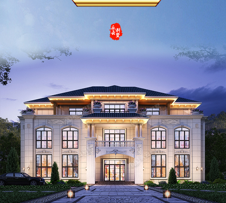 AT2812三层楼简欧小别墅产品卖点