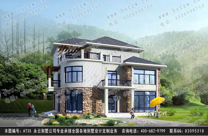 三层现代别墅效果图