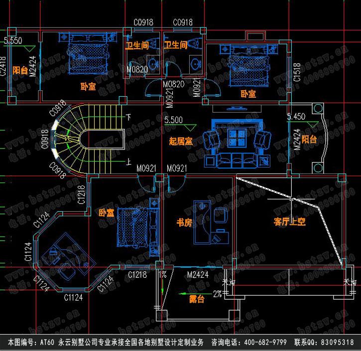 【at60三层带地下窒露台欧式豪华别墅建筑设计施工15
