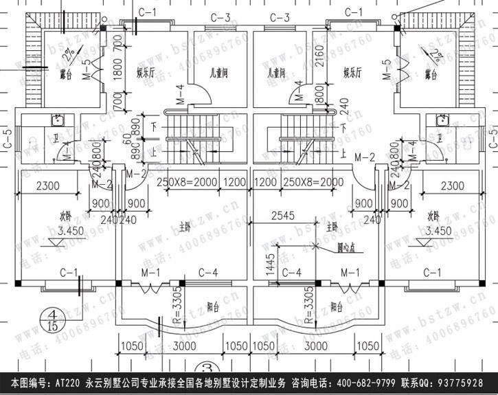 030別墅設計施工圖紙