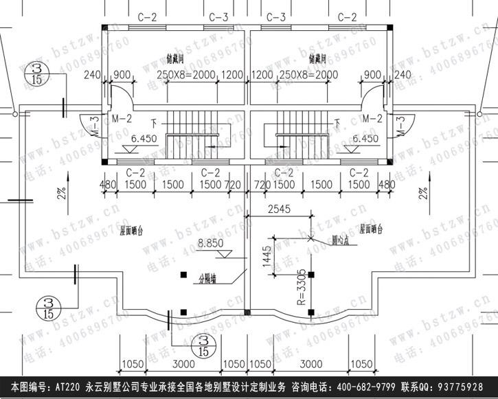 030歐式豪華住宅別墅施工圖紙別墅設計圖紙