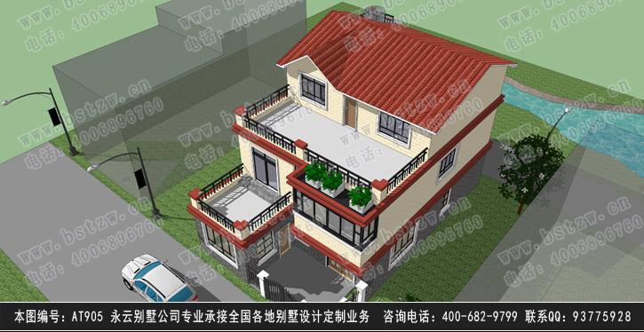 别墅]at905三层时尚别墅全套设计图纸9m×15m