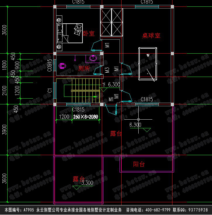 11欧式豪华三层别墅施工图纸别墅设计图纸