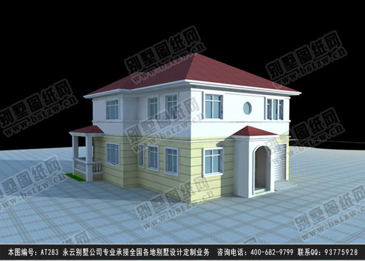1803欧式豪华三层别墅施工图纸别墅设计图纸
