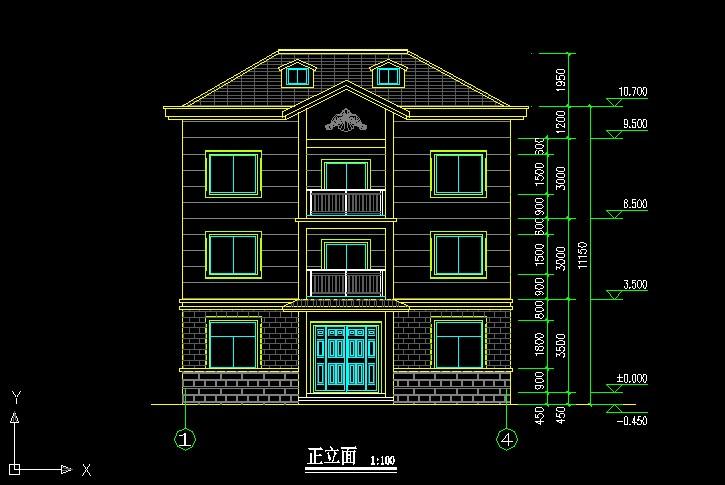 308经典三层别墅带阁楼设计图纸12.2×9.5m