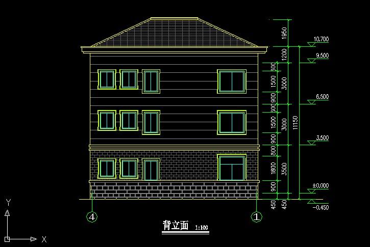 308欧式豪华三层别墅施工图纸别墅设计图纸