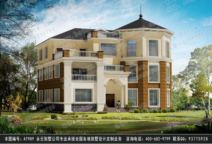 309欧式豪华三层别墅施工图纸别墅设计图纸