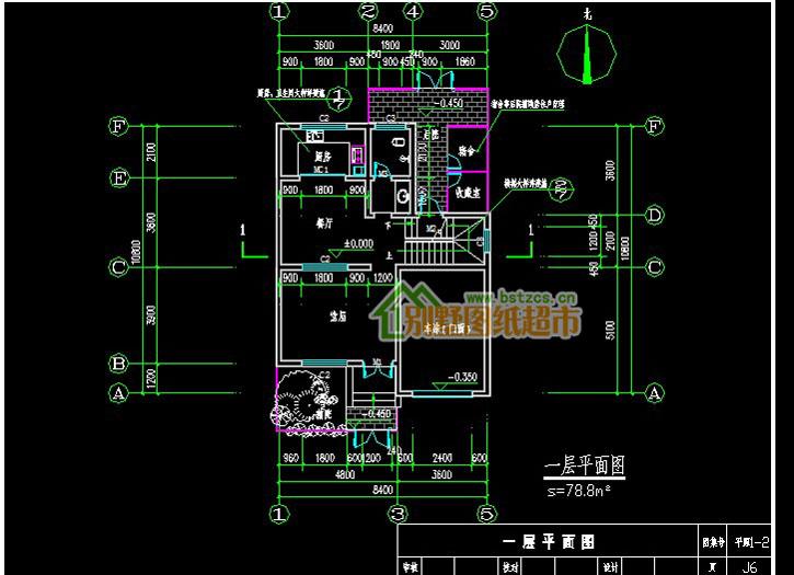 455新农村住宅二层别墅设计图纸