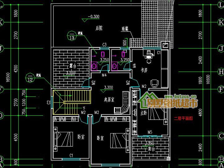 457新农村住宅二层别墅设计图纸