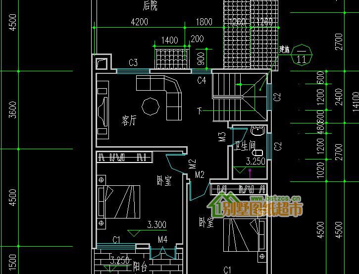 458新农村住宅二层别墅设计图纸