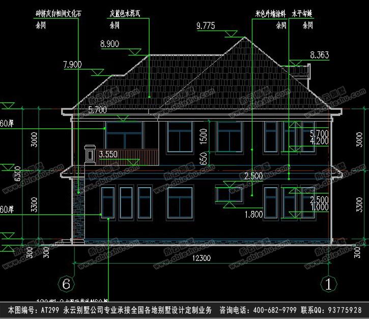 459新湖南社会主义新农村住宅二层别墅设计图纸