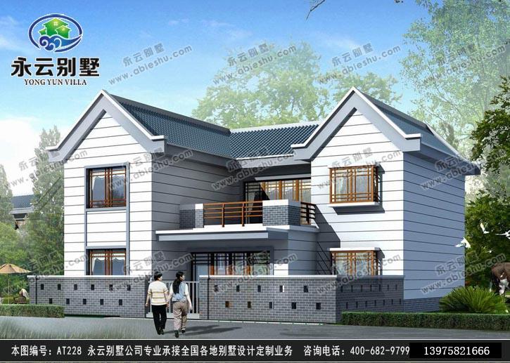 478新农村住宅二层别墅带车库图纸