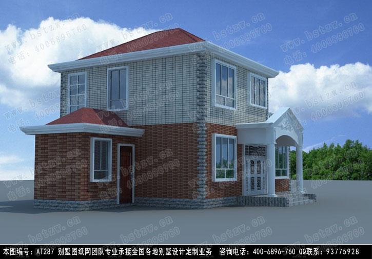 [永云别墅]at287号新农村二层小别墅设计图纸11m×9m