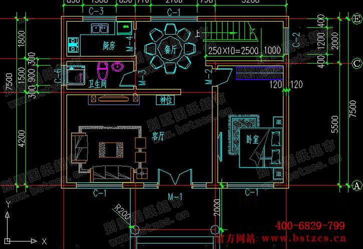 永云别墅at387新农村优雅二层别墅设计图纸10m×8m 小户型别墅图纸