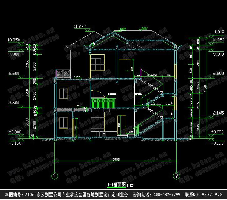 双车复式客厅别墅建筑施工设计图纸15m×16m  设计功能: 一层:双车库图片
