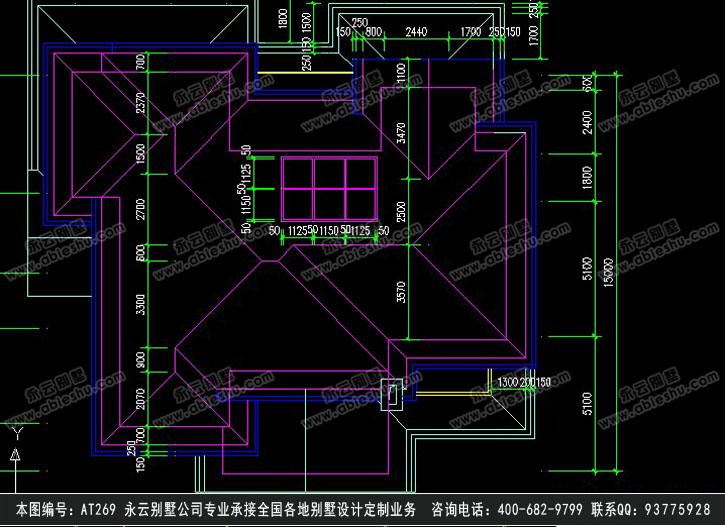 609现代二层别墅施工图纸别墅设计图纸