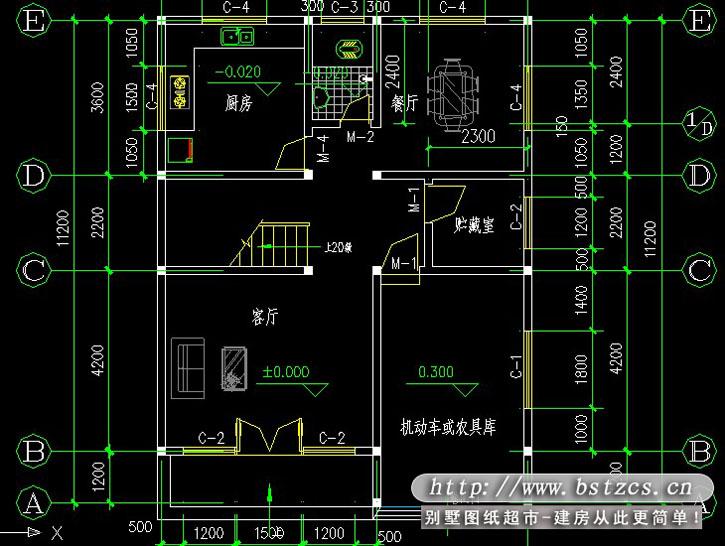 632三层农村小户型别墅全套图纸8.5m11m