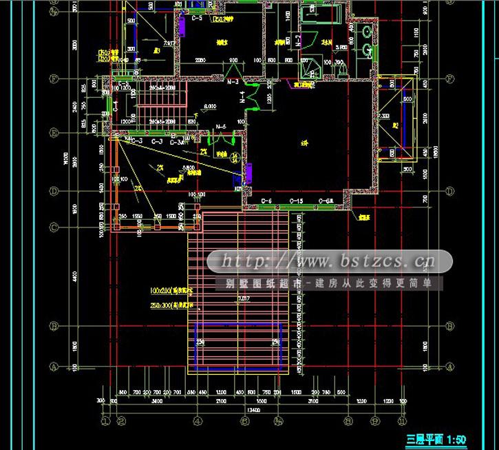 644三层豪华别墅施工图纸别墅设计图纸