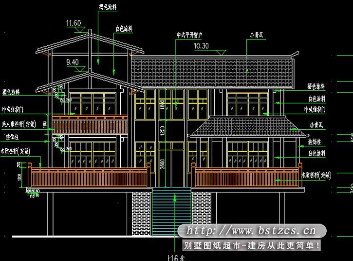 651二层豪华别墅效果图