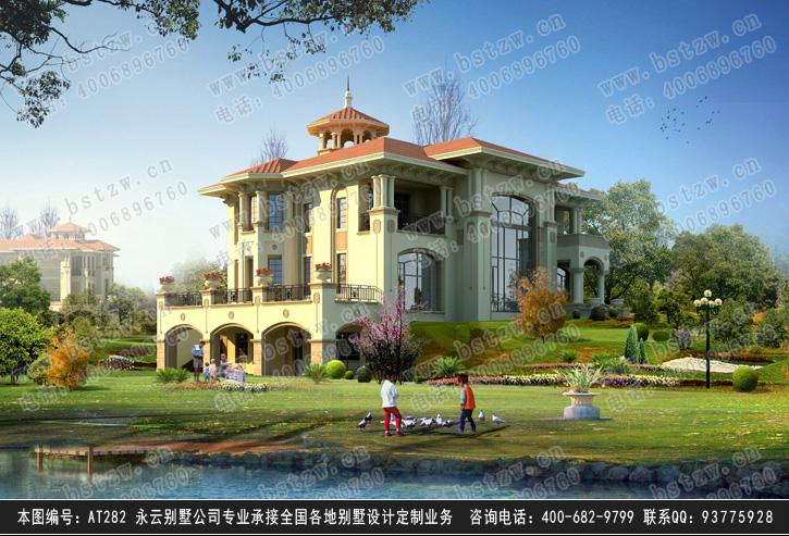 【at282二层海滨豪华办公别墅全套建筑设计施工图纸